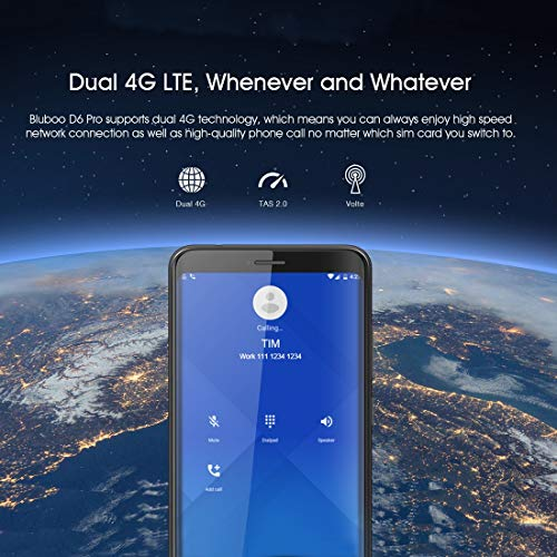 BLUBOO D6 Pro Unlocked Smartphone, 5.5 inch 2.5D Curved Display, Touch & Face ID 2GB+16GB Android 8.1 MTK6739V Quad Core up to 1.5GHz 4G LTE Dual Sim Mobile (Black) Img 4 Zoom