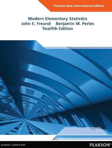 Modern Elementary Statistics: Pearson New International Edition