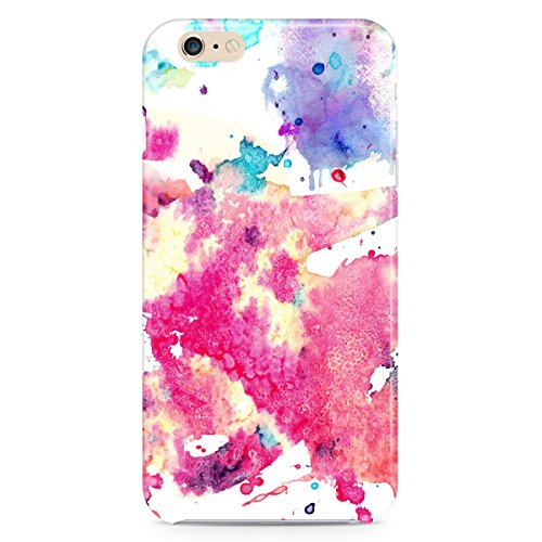 Queen Of Cases Coque pour Apple iPhone 6/6S - Aquarelle Art - Premium en plastique blanc