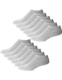 YouShow Chaussettes de Basket Hommes Femmes 10 Paires Chaussettes mi Chaussettes Courtes Coton Unisexe OEKO-TEX Standard 100