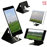 YT Mobile Phone Metal Stand/Holder For Smartphones And Tablet - Black Matt (Proudly Made In India)