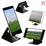 #5: YT Mobile Phone Metal Stand / Holder For Smartphones and Tablet - Black Matt (Proudly MADE IN INDIA)
