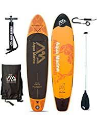 Aqua marina de remo stand Up paddle SUP Fusión de tabla de surf modelo 2016 Board+Paddle+Leash Talla:330 x 75 x 15 cm ; 9 Kg