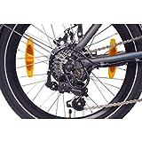 "NCM London (+) E-Bike, E-Faltrad, 250W, 36V 15Ah/19Ah • 540Wh/684Wh Akku, 20"" Zoll (15Ah Anthrazit) - 6"