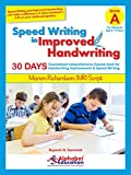#9: Speed Writing In Improved Handwriting - MR Script Writing - Book A (For Kids Age 6-9 Years) - Handwriting practice book in Marion Richardson writing script