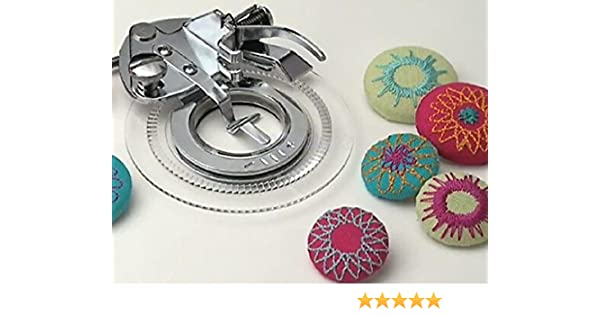 HONEYSEW Flower Stitch Circles Presser Foot for Brother Baby-Lock Singer Janome Kenmore Pfaff 3700L//5021L