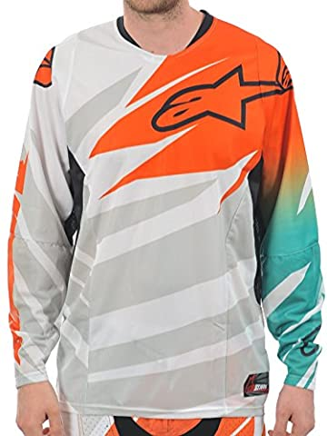 Alpinestars White-Orange-Marine 2014 Techstar MX