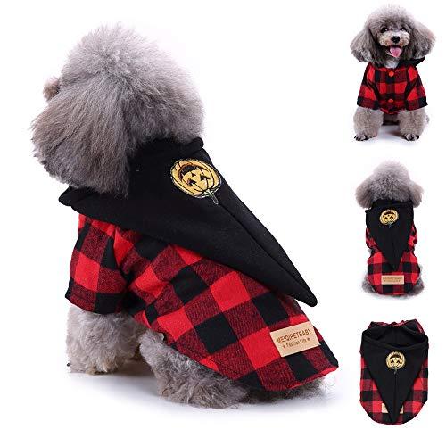 Berrose-Mode Haustier Hund Haustier-Kostüm Plaid Mantel Kleidung Welpen Doggy Bekleidung Niedlich Weich Weihnachten Halloween Gedruckt Welpe Sweater Jumper