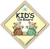 Kinder An Bord, Braun & Grün Bären, Baby an Bord Autoschild, Baby A, Aufkleber, Baby-schild, Baby Auto Schild, Stoßstange Aufkleber Baby, Kinder an Bord, Kinder an Bord Autoschild, Aufkleber