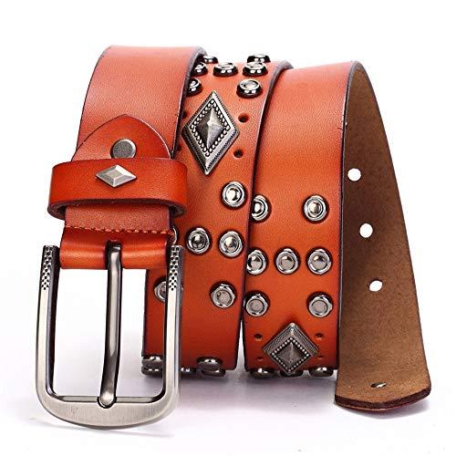 Punk Vintage Style Gürtel, Casual Cowboy Gürtel für Jeans, perfektes Geschenk für Ihre Freunde, Kollegen, Liebhaber, Partner