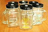 Hokshell Mason Trinkflasche mit Deckel und Strohhalm, 400 ml, zufällige Farbe