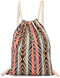 Bolsos Para mujer, RETUROM Unisex retro Geométrica Drawstring mochilas bolsas