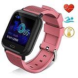 Huyeta Reloj Inteligente Impermeable IP67 Smartwatch Pantalla Táctil Completa Pulsera de Actividad...