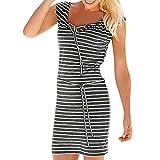 Best Amigo cosas para cheaps - Overdose Fashion Women Summer Boho Stripe Mini Dress Review