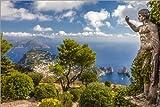 Poster 90 x 60 cm: Monte Solaro Aussichtspunkt auf Capri