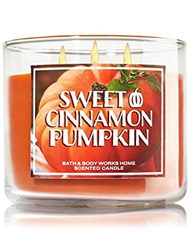 Bath & Body Works Sweet Cinnamon Pumpkin Candle 14.5 Oz 3 Wick Limited Edition for 2015 by Bath & Body Works Home