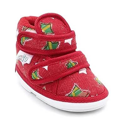 Hopscotch CHiU Unisex Baby Booties (Red, 15 Months)