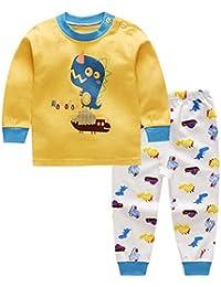 Deylaying Unisexo Bebé Chicas Chicos Algodón 2 piezas Conjunto de pijamas Ropa de noche Niños Niñito Cómodo Tops and Pantalones Ropa de dormir Prendas de dormir