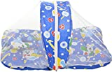BSB Trendz Baby Bed with Net (Blue, Char...