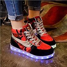 Jungen-Art und Weise LED-helle Schuhe beleuchtende beiläufige flache Schuhe sieben Farben ändern und elf Arten des blinkenden Modus , one , 38