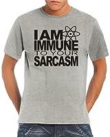 Touchlines Herren Shirt I Am Immune To Your Sarcasm