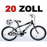 "20"" 20 Zoll Kinderfahrrad Kinder Jungen Fahrrad Bike Jugendfahrrad Jugendrad KICK SCHWARZWEISS"