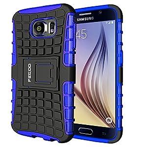 Pegoo Galaxy S6 Hülle, Schutzhülle Dual Layer Hybrid Harte Rüstung Handyhülle Drop Resistance Handys Schutz Hülle für Samsung Galaxy S6