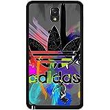 Custom Colorful Style Adidas Logo Phone Case Black Hard Plastic Case Cover Snap On Samsung Galaxy Note 3,Adidas Logo Samsung Galaxy Note 3 Case(Black)