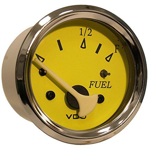 VDO Allentare Yellow/Blue Fuel Level Gauge - Use w/Marine 240-33 Ohm Fuel Senders - 12V