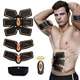 ♫ Maistore Muscle Toner Abs Trainer EMS Muscle Stimulator, Abdominal Toning Belt, Body Fitness Training Machine Waist Trainer, Gym Workout And Home Fitness Apparatus For Men Women