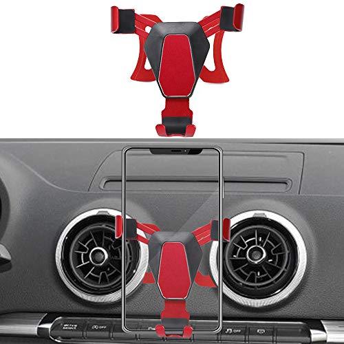 MARCHFA Auto Schwerkraft Linkage Handyhalterung Entlüftung KFZ Smartphone Handyhalter für A3 S3 2014-2018 (Rot)