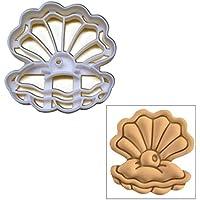 Pearl Oyster Cookie Cutter, 1pc, ideale per feste a tema (Wedding Pearl Tema)
