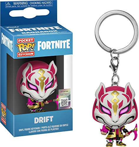 Funko- Keychain Pocket Pop Fortnite Drift Figura de Vinilo, (1)