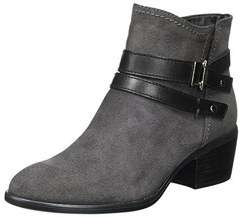 Tamaris Damen 25010 Stiefel, Grau (Anthracite/Blk), 39 EU