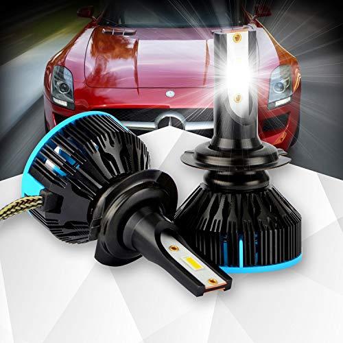 Preisvergleich Produktbild Motoeye H7 Abblendlicht Fernlicht mit StVZO Zulassung Minigröße Scheinwerferbirne Weiß 6000K mit Metallsockel (1 Paar)
