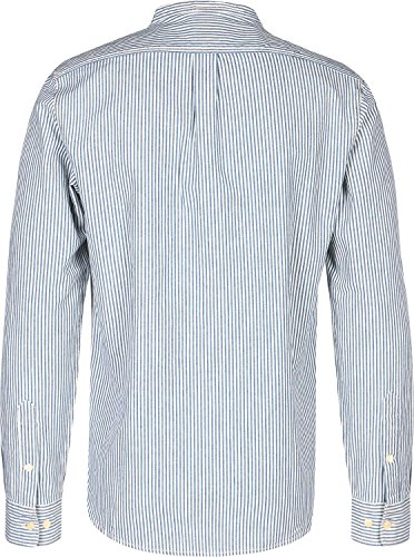 Lee 101 Bandcollar Camicia manica lunga blu bianco strisce
