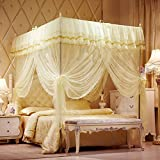 JIA&YOU Summer autumn anti-mosquito bed safe stainless steel bold frame double bed mosquito net