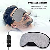 ZOWFUN Antifaz Para Dormir Steam Gafas Calientes Y FríAs, PU Material Calor Infrarrojo,Carga USB...