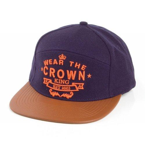 Casquette Snapback Wear The Crown bleu marine-beige KING APPAREL - Bleu Marine/Beige - Ajustable