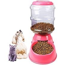 IHRKleid Wasserspender für Haustiere automatischer Haustier Zufuhr trinkender Brunnen Katze Hund Plastiknahrungsmittel Schüssel Haustier Wasserspender 3.5L (Automatischer Futterspender)