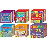 6 Mini Library Board Books - Special Bumper Gift Pack - Mini Library Board Books Pack for Children, Toddlers, Babies - Bedtime Board Book - Nursery Rhymes Board Book - Fairy Board Book - Animals Board Book Mini Library - ABC Mini Library - 123 Mini Library Whopping <36> Board Books Collection Set RRP £24.00 - Yours for The Massive Value of Just £9.99 - While Stock Lasts! by Star Online