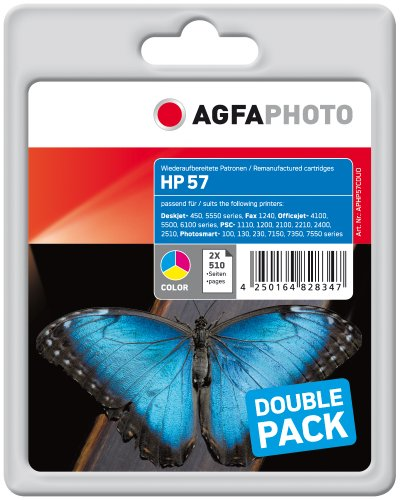 Preisvergleich Produktbild AgfaPhoto APHP57CDUO Tinte für HP PSC1210, 24 ml, farbig