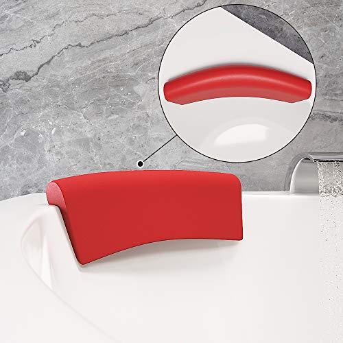 Kopf- und Nackenkissen für Badewanne Whirlpool Eckwanne Modell Ruhr Rot