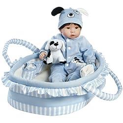 Paradise Galleries Super à Reborn poupée Qui Semble Vivant Réaliste Doux Vinyl 46cm bébé Garçon poupée Cadeau Finn & Sparky