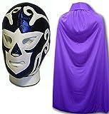 RAMIREZ HURACAN FANCY DRESS UP, mexican wrestling luchador maschera, mantella, colore: viola