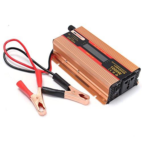 Werse 1000 Watt DC12V zu AC 220 V Wechselrichter Converter Adapter LCD Display Solar - Lcd Ac Adapter