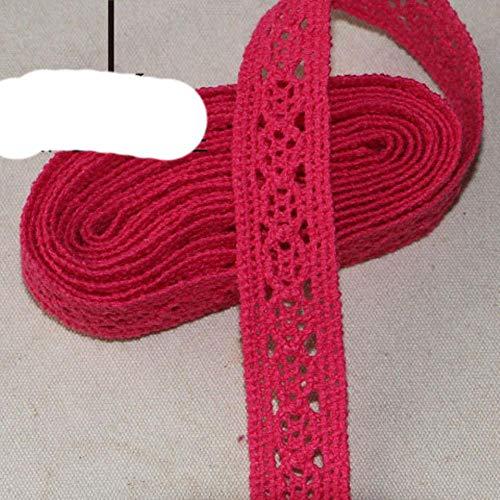 5 décoration garniture cour rouge pur tricot de coton violet bleu décoration bricolage rideau de couture ruban dentelle 20-40mm, 2cm 5 cour