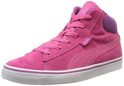 Puma Puma 1948 Mid Vulc SD Jr, Unisex-Kinder Hohe Sneakers, Pink (carmine rose-carmine rose-meadow mauve 03), 34 EU (1.5 Kinder UK)