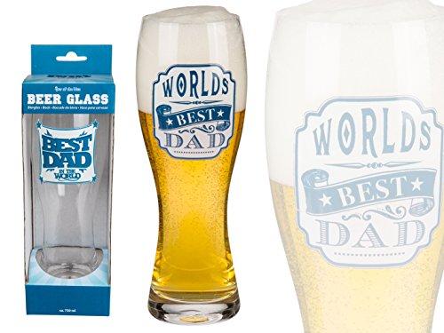 Bada Bing Bierglas Weizenglas Glas best Dad 750ml persönlich 2fach sortiert