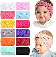 12 diademas de nailon para bebés y niñas, turbante, lazos para el pelo, banda elástica para el cabello, acceso